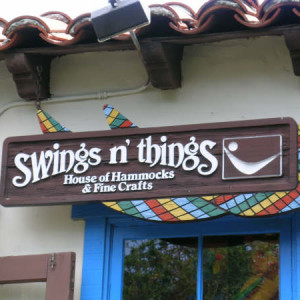 Swings and Things Sign