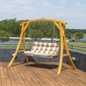 Double Cushioned Porch Swing - Regency Sand