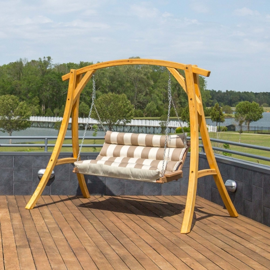 Double Cushioned Porch Swing Regency