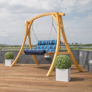 Double Cushioned Porch Swing - Gateway Indigo
