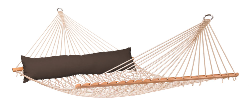 CALIFORNIA Weatherproof Kingsize Spreader Bar Rope Hammock arabica
