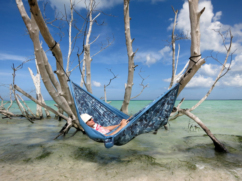 Colibri Camo Double Travel Hammock River Swings And