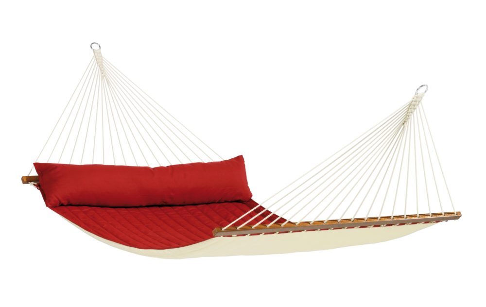 ALABAMA Weatherproof Kingsize Padded Spreader Bar Hammock red pepper