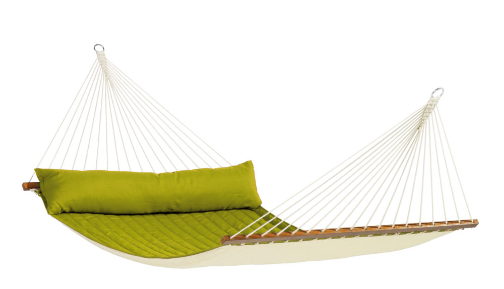 ALABAMA Weatherproof Kingsize Padded Spreader Bar Hammock avocado
