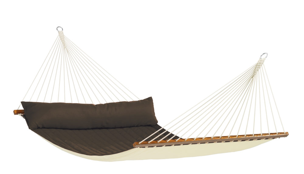 ALABAMA Weatherproof Kingsize Padded Spreader Bar Hammock arabica