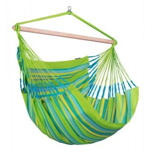 DOMINGO Weatherproof Standard Lounger Hammock Chair Lime